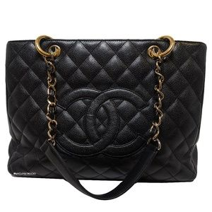 Chanel Black Grand Shopping Tote GST